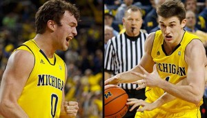 Michigan's Senior NIght against Purdue will be a big game for Zach Novak and Stu Douglass (US Presswire)