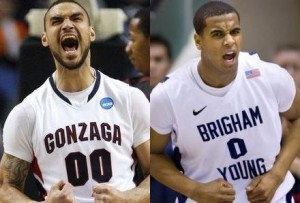 The Post Intrigue Between Robert Sacre (left) and Brandon Davies Is Just One Of Many Key Matchups In Tonight's Big Contest Between Gonzaga and BYU