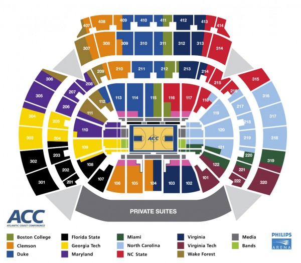 ACC Tournament Seating Chart Released: Sorry Miami and ...