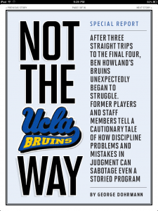 Here's The Magazine Title Page of the Upcoming Story in Sports Illustrated (SI App)