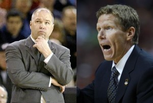 Randy Bennett (left) And Mark Few, Two Of The Premier Coaches In The Country, Renew Their Great Rivalry Tonight