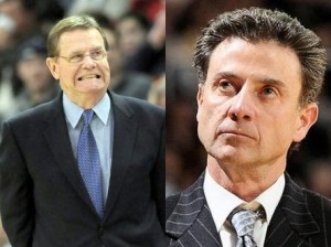 With Jim Calhoun Out, It'll Be George Blaney's (left) Role To Outwit Rick Pitino In UConn's Huge Contest Against Louisville