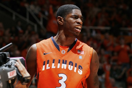 Brandon Paul and the Illini need to improve their defense to remain competitive in the Big Ten (Joe Robbins/Getty)