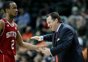 Meet NC State's Breakout Star (Lorenzo Brown) and His Head Coach (Mark Gottfied) (AP Photo/E. Hyman)