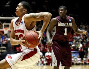 Rob Wilson and the rest of the Badgers played a complete game against Montana (photo: Washington Post)