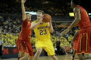 Evan Smotrycz is leaving the Michigan program (photo:  Michigan Daily)