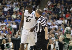 Draymond Green did it all for the Spartans on Friday. (Greg Bartram/US Presswire)
