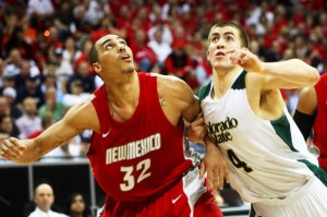 Pierce Hornung (right) Is One Of Colorado State's Undersized But Effective Frontcourt Players (Justin M. Bowen/Las Vegas Sun)