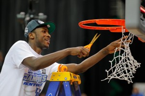 Michael Kidd-Gilchrist celebrating Kentucky's regional final win