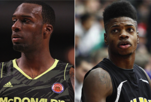 They've Announced: Shabazz Muhammed (Left) is Headed to UCLA; Nerlens Noel (Right) is Off to Kentucky (Photo Credit - BleacherReport.com)
