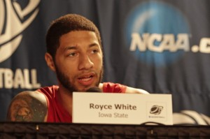 Royce White was just as impressive in front of the microphone at the Combine as he was on the court (Iowa State Daily photo)