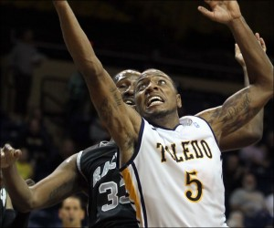 Rian Pearson is a great player for Toledo, but he won't get a chance at the Big Dance next season (The Blade/J. Wadsworth)
