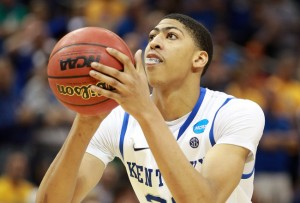 Anthony Davis will hear his name first during Thursday's NBA Draft  (AP Photo)