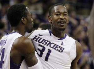 Tony Wroten, Jr. and Terrence Ross (right) from Washington both got selected in the NBA Draft's first round (AP Photo)
