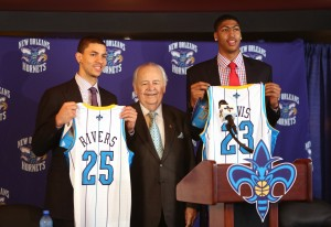 Austin Rivers and Anthony Davis (right) went from competing top prospects to now- NBA teammates (AP Photo/K. Maloney)
