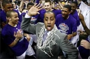 Despite Being Named Pac-12 Coach of the Year In 2011-12, Lorenzo Romar and The Huskies Weren't Dancing On Selection Sunday (credit: North and South of Royal Brougham)