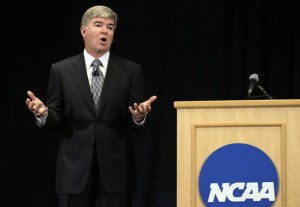 The NCAA is one of five sports league governing bodies involved in a class-action lawsuit against the state of New Jersey and its groundbreaking gambling law (Photo Credit: AP Photo/Michael Conroy)