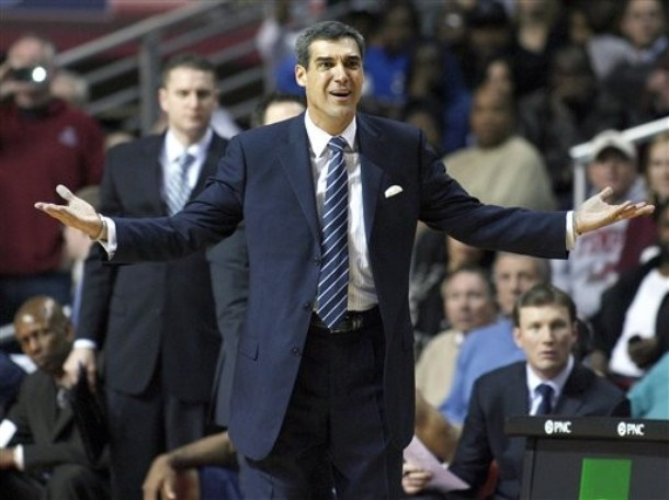 After last week went great, this week it was back to a lot of this for Jay Wright (Photo credit: H. Rumph Jr/AP Photo).