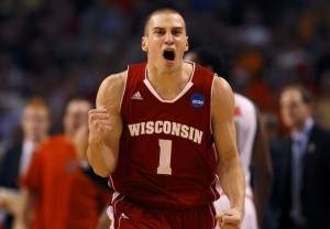 Ben Brust and the Badgers seem to be firing on all cylinders at the right time. (Photo credit: Brian Snyder/Reuters).