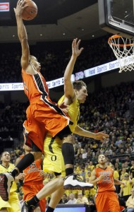 Cunningham's Athletic Ability Led To Many Spectacular Dunks, Including This One Over Oregon's Garrett Sim (credit: AP)