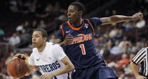 Pepperdine's Jordan Baker (right) Will Look To Improve On His 9 PPG Average (AP)