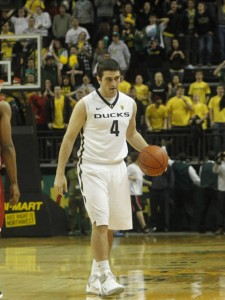 It's Tough To Find A Picture Of A Guy That Only Played 14 Minutes in 2011-12, But We Did It. Lucenti Could Possibly Be Oregon's Starter At Shooting Guard Come November 10. (credit: Eric Evans)