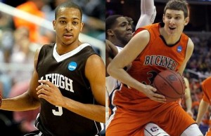 C.J. Moore (left) and Mike Muscala are two of the many reasons why the Patriot League is one to watch this season