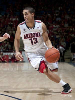 Junior Guard Nick Johnson Led The Wildcats With 17 Points In Their Rivalry Win Against Arizona State