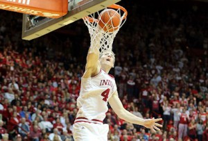 Cody Zeller and Indiana soared past North Carolina on Tuesday night (AP Photo)