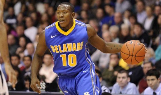 Devon Saddler and Delaware could win a game in the NCAA Tournament. (US Presswire)