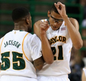 Pierre Jackson (#55) and Isaiah Austin (#21) Will Make or Break the Bears' Season. (Associated Press/Rod Aydelotte)