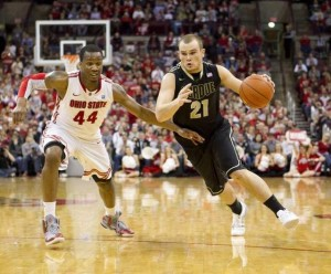 With Robbie Hummel and Lewis Jackson gone, much of the scoring and leadership responsibility will rest on D.J. Byrd's shoulders at Purdue.