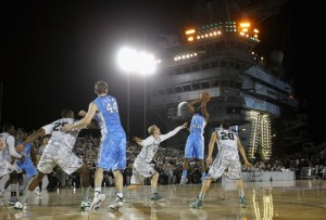Three shipside games will christen a new college hoops season (Photo credit: Getty Images).