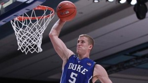 Mason Plumlee has led Duke in rebounding 10 times in 11 games as the Blue Devils are 11-0 while ranked third in strength of schedule. (AP Photo)