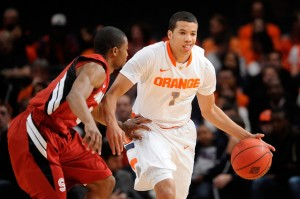 Despite losing key pieces from last year's one-seed team, Syracuse could be just as potent in 2012-13 with Carter-Williams controlling the offense (Photo credit: Getty Images).