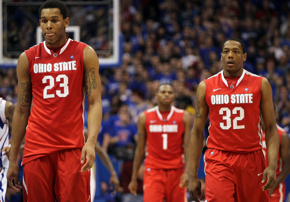 Amir Williams (left) needs to be more consistent in the paint for the Buckeyes.
