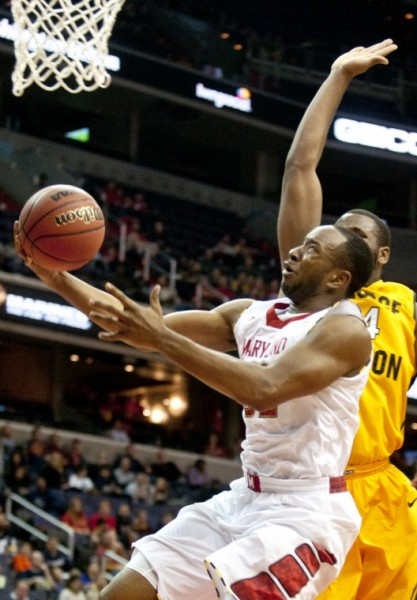 Dez Wells led the Terps to a huge win over the Spartans on Tuesday.  (Charlie DeBoyace/The Diamondback)