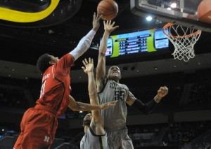 Along with his offensive growth, Woods still blocks shots with authority and regularity. (Photo by Rockne Andrew Roll)