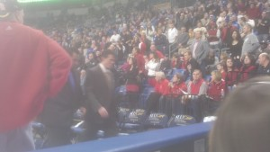 Our amateur cell phone camera captured Steve Alford walking to the locker room after an ejection.