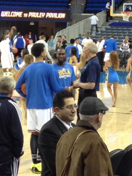 Bill Walton Meets Kyle Anderson and Shabazz Muhammad Prior To The Game