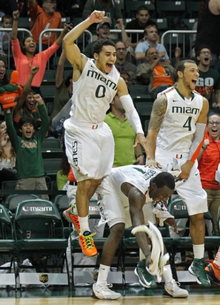 Miami should celebrate its RPI ranking, but there's still plenty of work to be done. (Photo: Al Diaz / Miami Herald)