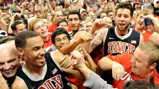 The Rebels upset North Carolina in Las Vegas last season. Can they do it again? (Getty)