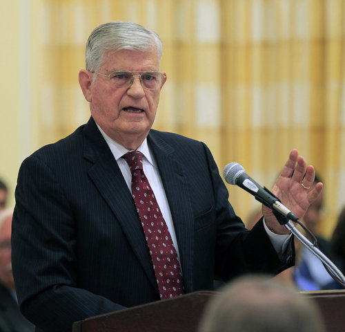 Jim Martin released his report on the UNC academic scandal, which left most questions unanswered. (Photo: Chris Seward / Raleigh News & Observer)
