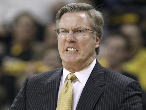 Fran McCaffery and his Iowa Hawkeyes are predicted to finish in the middle of the Big Ten. (AP)