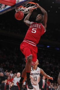 C.J. Leslie and NC State may have peaked early (E. Hyman/RNO)