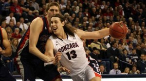 Kelly Olynyk (13) just keeps on getting better and better for the Zags (Gonzaga athletics)