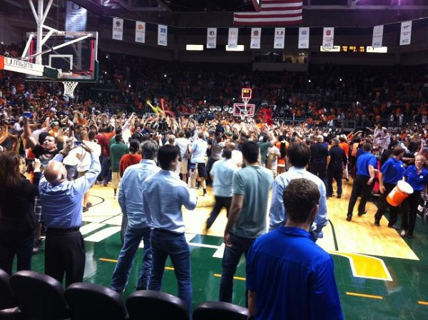 Miami Fans Might Be Rushing The Court A Lot This Year