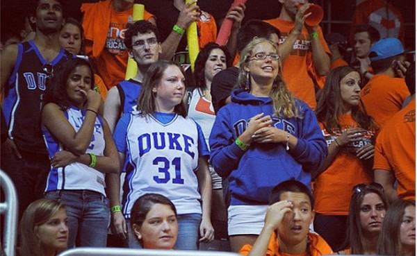 Picon, Right in the Duke Sweatshirt, Probably Wishes She Hadn't Written into the Duke Chronicle At This Point