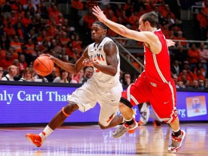 The Illini didn't need hot three-point shooting to dominate Ohio State in Champaign (Photo Credit: Getty Images).