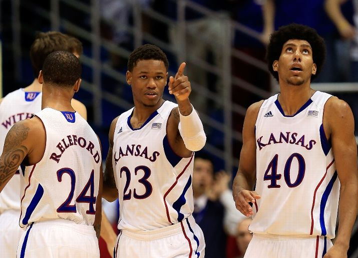 The Jayhawks Just Got By Another Upset-Minded visitor at Allen Field House (Photo credit: Getty Images).